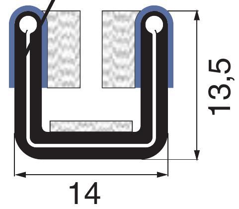beflokte Profile - Samtschiene - Fensterführungsprofile